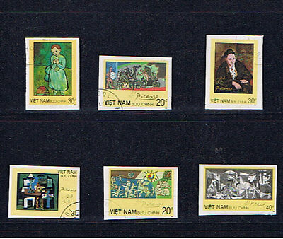 Vietnam 1987 Paintings By Picasso Set Imperforate