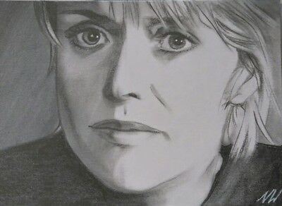 Original stargate Samantha Carter Amanda Tapping aceo graphite drawing signed