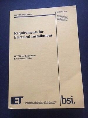 17th Requirements for Electrical Installations IET Wiring Regulations BS7671 3rd