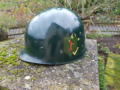 WWII US Army M1 Helmet  WWII American Helmet found in Normandy, France NAMED