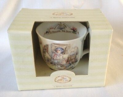RARE Brambly Hedge Rigging The Boat Beaker - 1st Quality Royal Doulton - Boxed