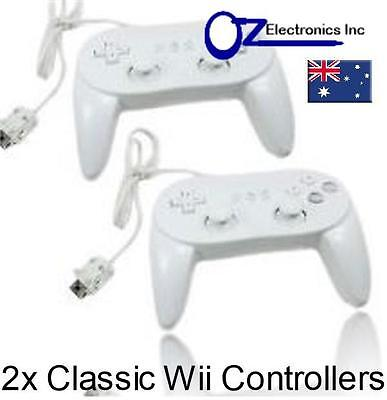 2x New Classic Pro GamePad Controller for Nintendo Wii Australian Seller NEW