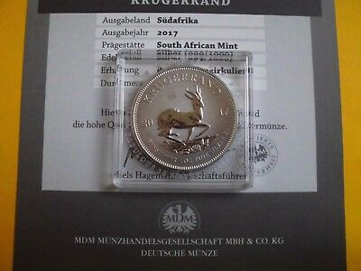 Silver 999 1 Oz Coins Krugerrand 2017 First Year Issue Fabulous 15 Silber