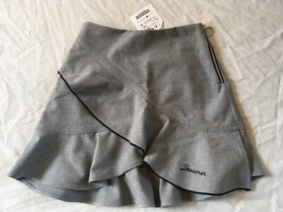 Zara Ruffled Flannel Skirt With Embroidery Girls Size 8 Years