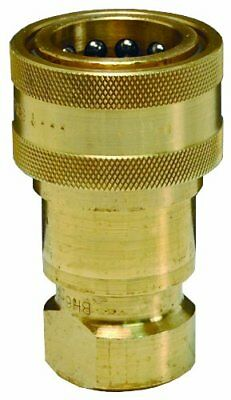 Dixon B16-463 Brass Industrial Hydraulic Quick-Connect Fitting, Poppet Valve x -