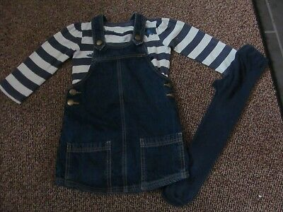 Girls size 3-4 years next dress top and tights outfit