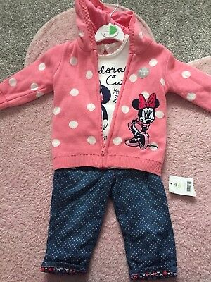 Baby Girl Disney Minnie Mouse Outfit 6-9 Months New