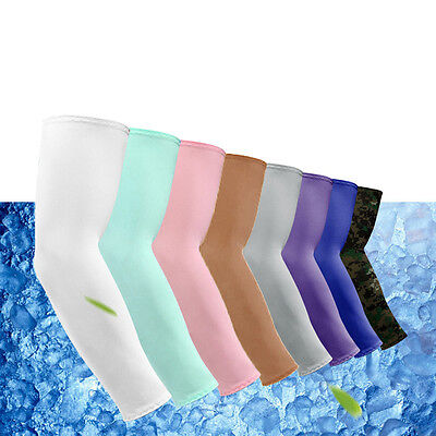 1 Pair UV Arm Sleeves Cover Sun Protection Basketball Golf Athletic Sports
