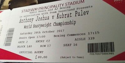 2x ANTHONY JOSHUA VS KUBRAT PULEV BOXING TICKETS/LOWER TIER/GREAT SEATS