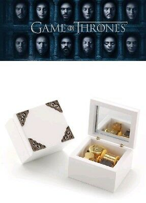 White Wooden Vintage Music Box : GAME OF THRONES - WINTER IS COMING