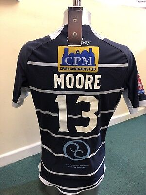 Match Worn Featherstone Rovers 2017 Home Playing Shirt (Richard Moore) Size Xl