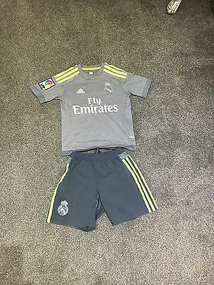 boys 100% authentic Real Madrid Adidas Kit Climacool Top & Shorts