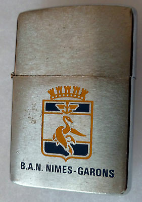 Briquet Zippo Original Ban Nimes Garons Base Aeronavale Marine Nationale