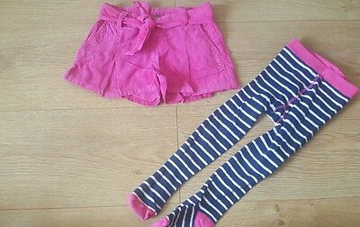 Next girls 2-3 years needle cord pink shorts skort excellent condition