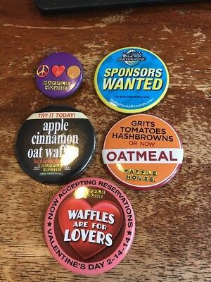 Waffle House Pins Buttons Lot Of 32 P-107B