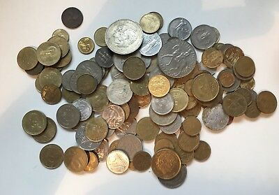 Job Lot Of Unsorted Coins, Includes Great Britain And World, Nice Coins