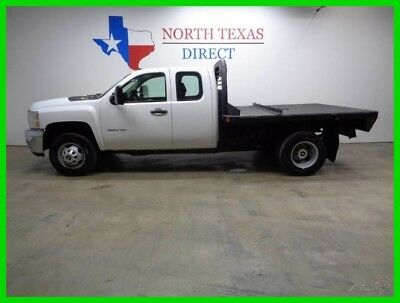 2011 Chevrolet Silverado 3500 4WD Flatbed 6.6 Duramax Allison Ext Cab 1 Texas Ow 2011 4WD Flatbed 6.6 Duramax Allison Ext Cab 1 Texas Ow Used Turbo 6.6L V8 32V