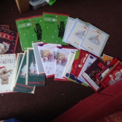 Job Lot Different Style Christmas Cards Mum goddaughter/son/mother grandson etc