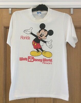 Vintage 80s Walt Disney World Florida T Shirt Size Small