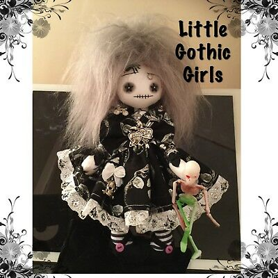 """Keenan the 8"""" hand made rag doll by Little Gothic Girls"""