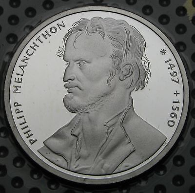 GERMANY 10 Mark 1997 A Proof - Silver - Philipp Melanchthon