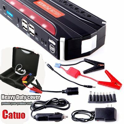 68800mAh 12V Jump Starter Car Emergency Charger Booster Power Bank Battery Pack