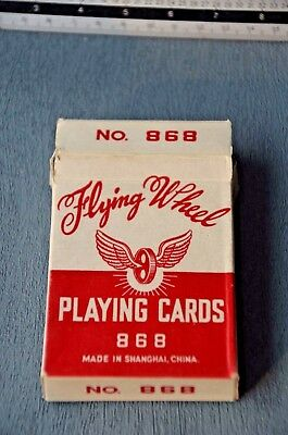 Vintage Flying Wheel 868 Playing Cards Shanghai China