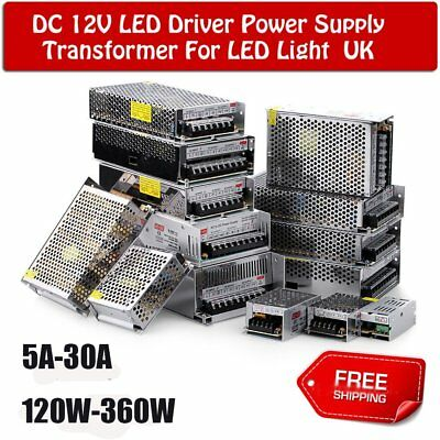 DC 360W 12V 30A Driver Switching Power Supply Transformer for LED Strip CCTV