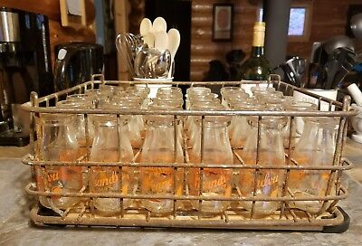 Vintage case of 30 Grandvu Milk Bottles