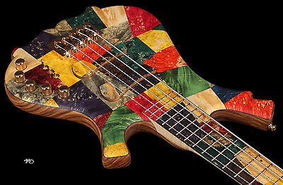 KD Picasso 5 string Electric Bass Guitar Unique Boutique Handcrafted Rare
