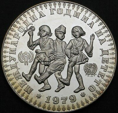 BULGARIA 10 Leva 1979 Proof - Silver - International Year of the Child - 748 ¤
