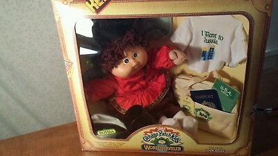 Cabbage Patch Kid World Traveler  Brown Hair Brown Eyes 1985 Coleco STACY JUD
