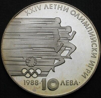 BULGARIA 10 Leva 1988 Proof - Silver - Summer Olympic Games - 720 ¤