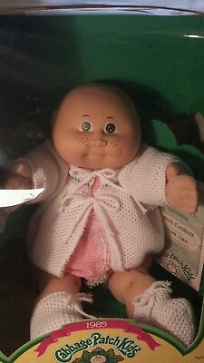 1985 Cabbage Patch Kid Bald Hazel Eyes Dimple Freckles Lenore  Tara