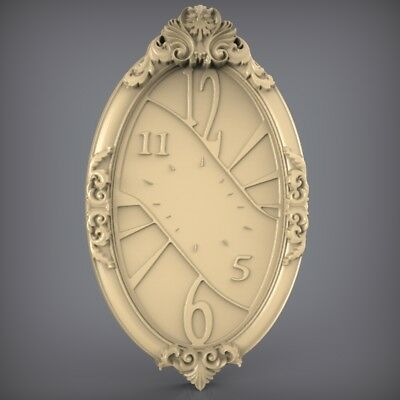(918) STL Model Clock for CNC Router 3D Printer  Artcam Aspire Bas Relief