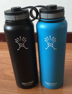 2PC New 40 oz Hydro Flask Insulated Stainless Steel Water Bottle Wide Mouth -Q5