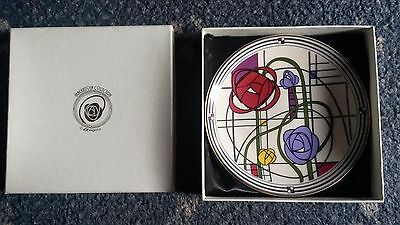charles rennie mackintosh plate (with stand, box)