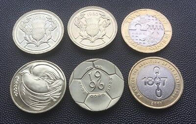 6 x UK £2 coins