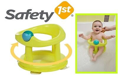 Baby Infant Boy Girl Bath Tub With Rotating Ring Play Ball Seat -Safety 1st LIME