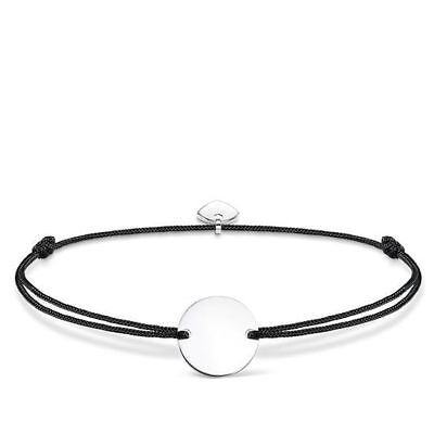 "Thomas Sabo Armband ""Little Secret Gravurplatte"" Textil-925/- LS018-173-11-L20v"