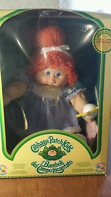 1984? RARE Cabbage Patch Kid ITALIAN RED HAIR BLUE EYES PACIFIER RATTLE