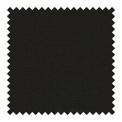 Zweigart 14 count Aida Cross Stitch Fabric BLACK 43x33cm