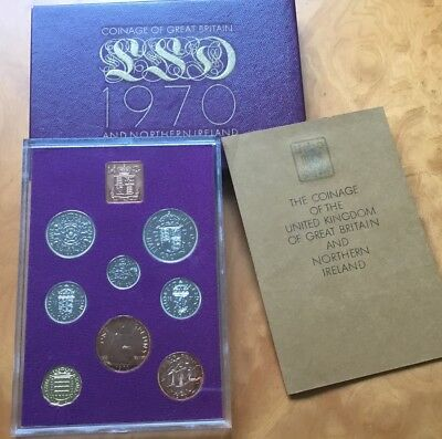 royal mint 1970 proof set Uk coins.