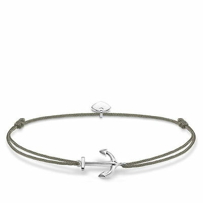 "Thomas Sabo Armband ""Little Secret-Anker"" Textil-925/- LS001-173-5-L20v"