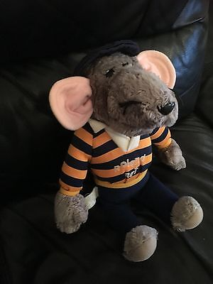 Vintage 1980's Hasbro Roland Rat 14 inch Soft Toy in good condition