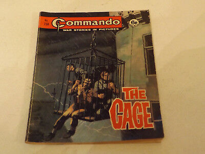 Commando War Comic Number 758!!,1973,good For Age,44 Years Old Issue,v Rare.