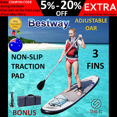 New Bestway STAND UP PADDLE BOARD SUP Inflatable Paddleboard Surfboard 3m