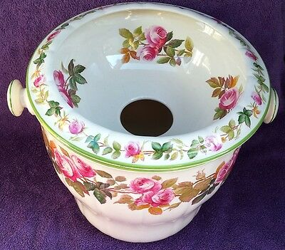 Marked Vintage MINTON Chamber Pot w/ Insert Slop or Champagne Bucket ROSES