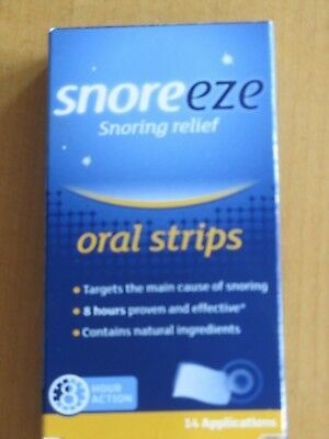 Snoreeze Oral Strips X14 For Snoring Relief Expiry 2021