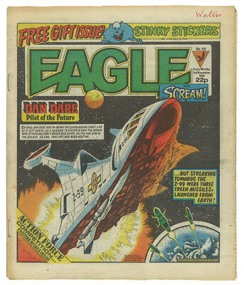 Eagle and Scream Nov 3 1984 Comics Alan Moore Monster Inc FREE GIFT STICKERS
